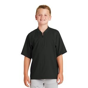 New Era® Youth Cage Short Sleeve 1/4 Zip Jacket