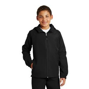 Sport Tek® Youth Hooded Raglan Jacket