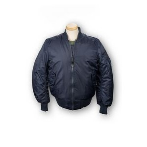 Bravo MA-1 Nylon Flight Jacket (Navy Blue)