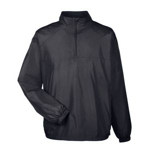 ULTRACLUB Adult Micro-Poly Quarter-Zip Wind Shirt