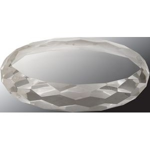 Crystal Oval Paperweight