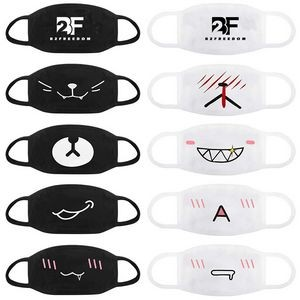 Comfortable 100% Cotton Face Mask - Washable - Optional Custom Logo Added