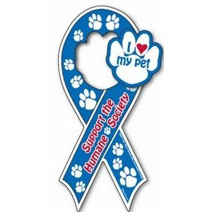 Pick 2 Auto Ribbon Magnet with Paw Shaped Center