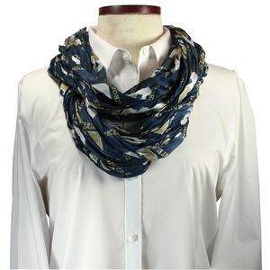 Custom Cotton Wet Dye Infinity Scarf