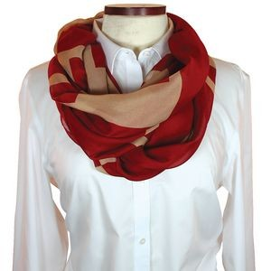 Custom Silk Wet Dye Infinity Scarf