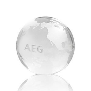 Globe Paperweight - Optical 3-1/8""