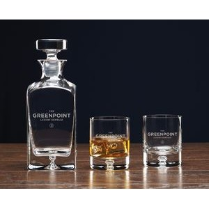 Deluxe Square Decanter Set