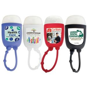 Hand Sanitizer Gel Pocket Bottle w/ Silicone Holder