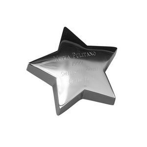 Silver Plated Star Paperweight