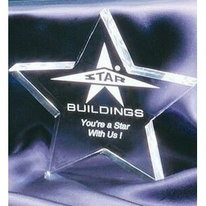 "Clear Paperweight Star Acrylic Award - 5""x5"""