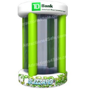 Blizzard of Dollars Circular Inflatable Cash Cube
