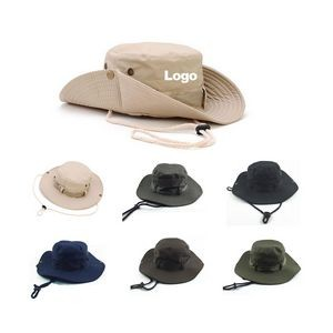 Outdoor Large Brim Bucket Boonie Hat Fishing Hunting Hat
