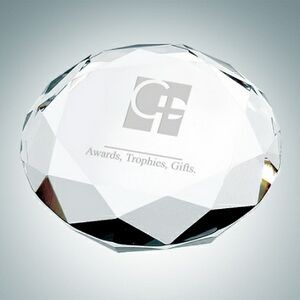 Octagon Optical Crystal Paper Weight