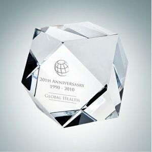 Hexagon Optical Crystal Paper Weight