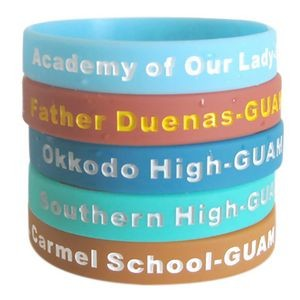 Color Filled Wristband/Debossed Ink Filled