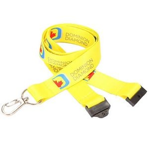 3/4'' Dye Sublimation Lanyard w/Safety Breakaway